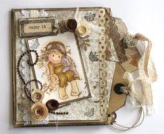 Angellas Hobbyside: Papirposekort med bokmerker/tags