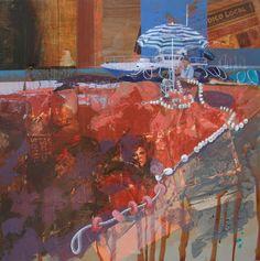 Figurativo V - Artesania Pura / Collage + Acrílico 80 X 80 cm. Seleccionado en: Concurso Pintura del Mar Burriana - Castellon 2011