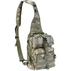 """11"""" Digital Camo Sling Backpack Military Tactical Bag Hiking Camouflage Day Pack 