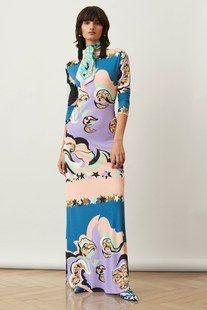 Emilio Pucci Pre-Fall 2018 Fashion Show Emilio Pucci Pre-Fall 2018 Collection - Vogue Dolly Fashion, Mod Fashion, Fashion Week, Fashion Photo, Runway Fashion, Fashion Trends, Fashion Stores, Emilio Pucci, Autumn Fashion 2018