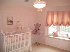 Baby Girl Nursery Elegant Window Treatments 68 New Ideas Baby Girl Nursery Themes, Baby Room Decor, Nursery Decor, Nursery Ideas, Room Ideas, Ballerina Bedroom, Ballerina Nursery, Ballet Room, Baby Ballerina