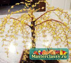 Схемы деревьев из бисера. Глициния из бисера