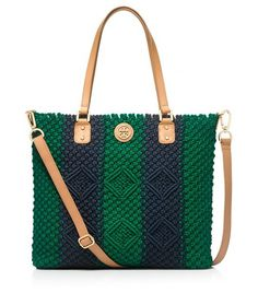 Preppy meets tribal -- crochet tote by Tory Burch (of course)