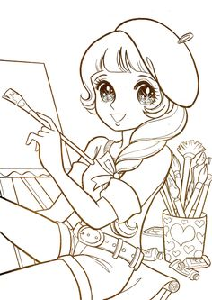 aeromachia:shojo-manga-no-memory:   This is few coloring pages from this vintage coloring book