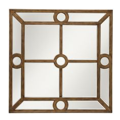 Elara Antique Silver Square Mirror