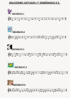 El Lenguaje Musical de Fátima: DICTADOS 1º ENSEÑANZAS ELEMENTALES