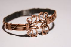 Mens Bracelet-copper bangle jewelry- copper wire wrapped Bracelet-cuff bracelet-wire wrapped jewelry handmade-copper jewelry-bangle. $38.00, via Etsy.