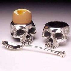 #Skull egg cups for breakfast