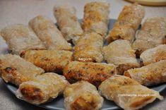 Przesmacznie: Sajgonki Sweet Potato, Sausage, Potatoes, Vegetables, Food, Sausages, Potato, Essen, Vegetable Recipes