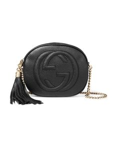 a9005a56d547 Gucci | Black Soho Mini Textured-leather Shoulder Bag | Lyst Handbag Lyst.