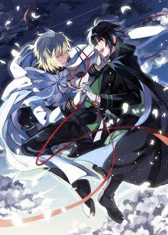 Mika and yu/ owari no seraph