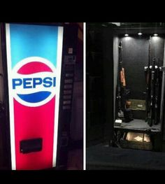 Gun Safe But With A Coke Machine