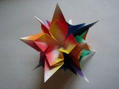 Estrella de papel hecha a mano
