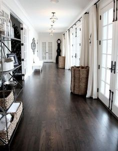 We Love The Drama Of A Dark Hardwood Floor Against White Walls And Dark  Fixtures. Our White Oak Floors Can Look Beautiful In A Similar Dark Finish.