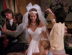 "Wet Dog Bride | Here Are All 90 Outfits Rachel Green Wore On The First Season Of ""Friends"" // Rachel Green, my first fashion icon."