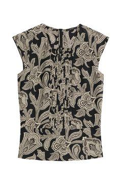 ETRO Printed Silk Blouse. #etro #cloth #tops