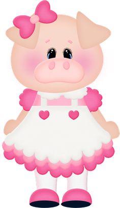 GIRL PIG CLIP ART