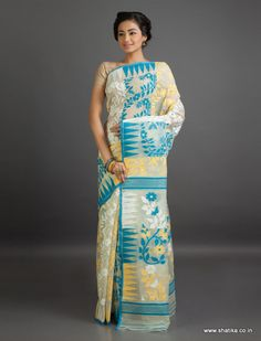 #Jamdanicottonsarees are made out of one of the #finest muslin textiles of Bengal.
