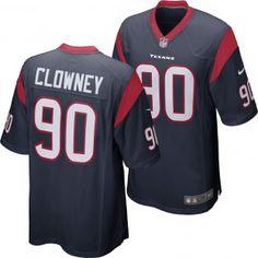 c2e976413dafea Houston Texans Nike NFL Jadeveon Clowney  90 Game Jersey (Navy) Nike Nfl
