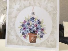 Cardio Cards, Art Impressions, Card Io, Tiny Flowers, Watercolor Cards, Hanging Baskets, Cute Cards, Cardmaking, Birthday Cards