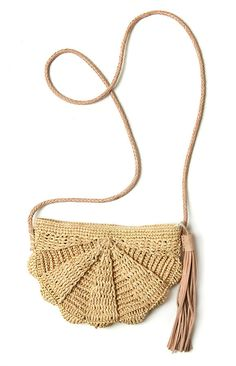 Natural Crocheted Raffia Bag | Mar y Sol | accompany
