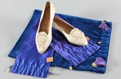 July 29, 1981: Prince Charles marries Lady Diana Spencer in Saint Paul's Cathedral. Princess Diana's Wedding Slippers