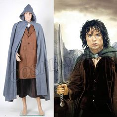 The Lord of the Rings Cosplay Costumes Frodo Baggins Cape Coat Halloween Costume Full Set Halloween Cosplay Costume for Man Boys Cosplay Costumes For Men, Movie Costumes, Mascot Costumes, Halloween Cosplay, Halloween Costumes, Vest Coat, Cape Coat, Radagast The Brown, Frodo Baggins