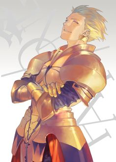 Fate Zero Archer Gilgamesh. This guy uggghhhh I wanna hate him, but he's so fabulous!!