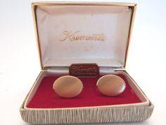 Vintage Krementz 14K Overlay Cufflinks With Original Box #Krementz