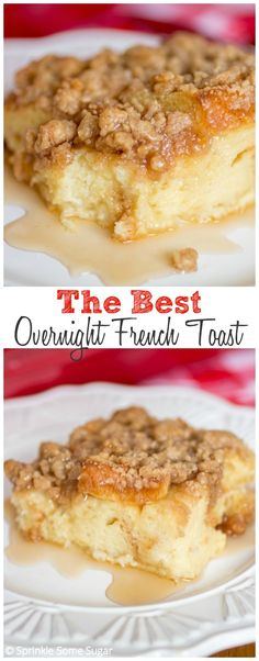 Overnight French Toast Ingredients: 12-15 slices white bread, 6 eggs, 2 cups whole milk, 1/2 cup heavy cream, 3/4 cup granulated sugar, 2 tbs vanilla extract, 1 cup flour, 1/2 cup brown sugar, 1 tsp cinnamon, pinch salt, 1/2 cup cold butter