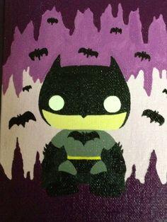 Custom Pop Acrylic Batman Painting 5x7 inches by PaperLotusGallery, $30.00