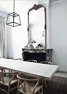 Dining room with flare.