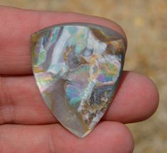 Real Abalone Guitar Pick Large Hand made Plectrum by Highrroad, $27.00