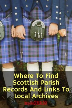 Where to find Scottish parish records and links to local archives. This post links to bespoke Genealogy's free Scottish Archive Guide and explains how to access church records. #genealogy #familyhistory #ancestors #genealogyresearch #genealogyskills #heritage #familytree #bespokegenealogy #scotland #uk