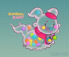My last halloween paca, for MilkPawz ! Mutations: multi-texture, shedding from the halloween calendar: Gumball Ghost Cute Fantasy Creatures, Mythical Creatures Art, Cute Creatures, Cute Animal Drawings, Kawaii Drawings, Cute Drawings, Kawaii Crochet, Devian Art, Fantasy Beasts