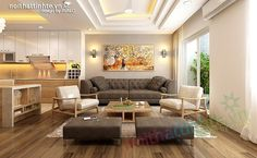 Thiết kế nội thất chung cư 90 m2 nhà anh Hoàng Minh Khai