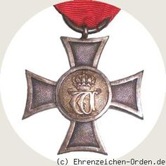 UK of Württemberg. German States. Landwehr Service Award 1st class 1891 Donated 1891 by King William II. Awarded: 1891 - 1921
