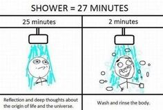 what a shower really consists of... ideally... when there is time for such things they are wonderful days!