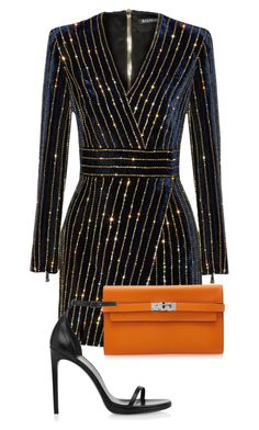 """Sem título #163"" by celsoromera on Polyvore featuring moda, Balmain, Hermès e Yves Saint Laurent"