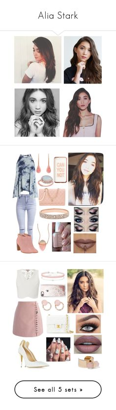 """""""Alia Stark"""" by gracielovesyou01 ❤ liked on Polyvore featuring Sephora Collection, Michael Kors, New Look, Irene Neuwirth, Sans Souci, Ted Baker, Missguided, Essie, Anne Sisteron and FOSSIL"""
