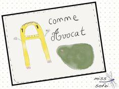 A comme dans avocat,  A like in avocado #lettre A #avocat #avocado