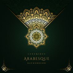 Luxurious Arabesque Background With Gold Mandala Style Art Spring Wallpaper, Flower Wallpaper, Flower Backgrounds, Colorful Backgrounds, Floral Watercolor Background, Royal Invitation, Spring Banner, Lilly Flower, Frame Template