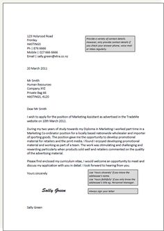 Cover Letter Template For Retail | Cover Letter Template | Cover ...