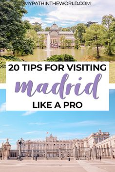 Traveling to Madrid? Here are 20 tips for visiting Madrid that will help you have the best time in Spain's capital! Top Europe Destinations, Europe Travel Tips, European Travel, Travel Guides, Travel Goals, Spain And Portugal, Portugal Travel, Cool Places To Visit, Places To Travel
