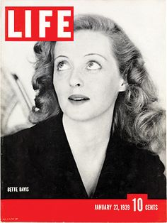 January 23, 1939: Bette Davis. See more photos of Bette Davis here: http://ti.me/RcMIdB