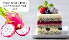 Dragon Fruit And Berry Layered Cake from fruitinformation will give you a delightful insight in making this beautiful cake from fruit   #fruitcake #dragonfruitcake #cake #dragonfruit #berrycake