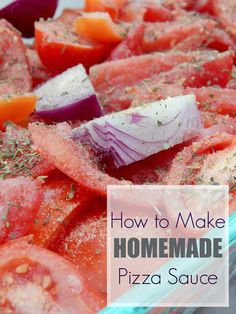 How to Make Homemade Pizza Sauce - Allys Sweet & Savory Eats How To Make Tomato Sauce, How To Make Pizza, Making Homemade Pizza, How To Make Homemade, Healthy Eating Recipes, Cooking Recipes, Pizza Recipes, Most Popular Recipes, Favorite Recipes