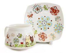 (SPECIAL PRICE $14.00) SMILE Mug & Plate Set - FFrom The Ceramic Workshop of St Elisabeth Convent | catalog.obitel-minsk.com