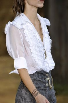 Chanel : The White Blouse : The White Top : The Closet Coach