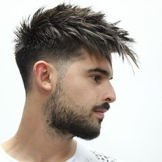 45 Trendy Spiky Hairstyles For Men Guide) Spiky Hair Long Fringe – Best Spiky Hairstyles For Men: Cool Spiky Hair, Cuts and Styles – Short, Medium, Long Spiky Haircuts Mens Hairstyles Fade, Undercut Hairstyles, Haircuts For Men, Fall Hairstyles, Funny Hairstyles, Stylish Haircuts, Men's Haircuts, Popular Haircuts, Men's Hairstyles